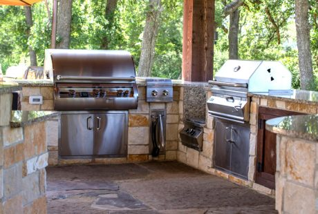 outdoor kitchen design houston