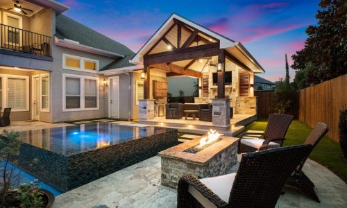 Cypressview Houston custom backyard patio and pool