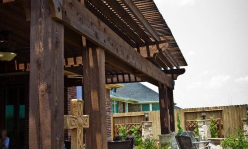 Houston Custom Outdoor Pergola Patio