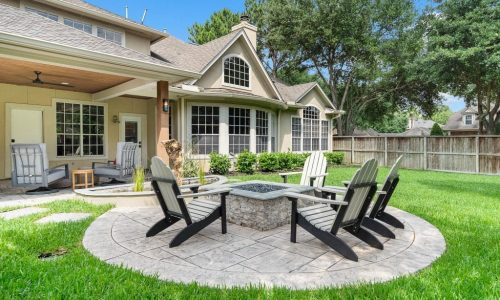 North Lake Village Custom Backyard, Patio and Firepit Houston